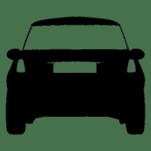 512x512 City Car Rear View Silhouette