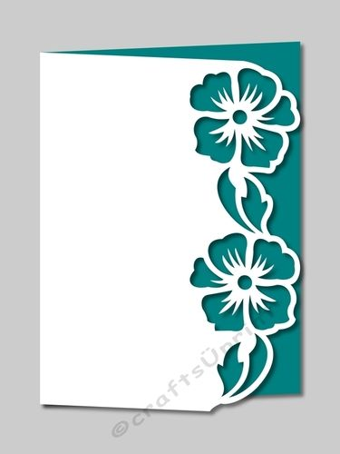 375x500 Over The Edge Floral Border 11 Floral Border, Paper Cutting