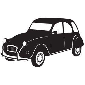 300x300 Wallsticker 2cv Otomoto Silhouette, Cars