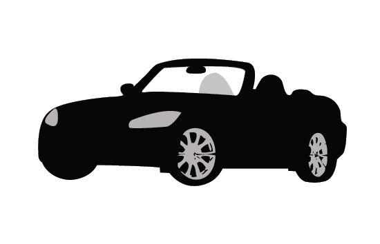 550x354 Car Silhouette Vector