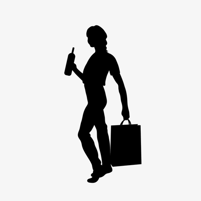 650x650 People Icon Woman Picture Material, Woman Silhouette, People
