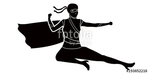 500x250 Superwoman Cartoon Character Silhouette Stock Image And Royalty