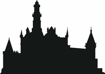 357x250 Castle Wall Decal Wall Decals, Silhouettes And Castles