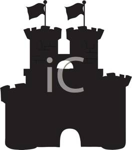 264x300 Art Image Black And White Silhouette Of A Castle