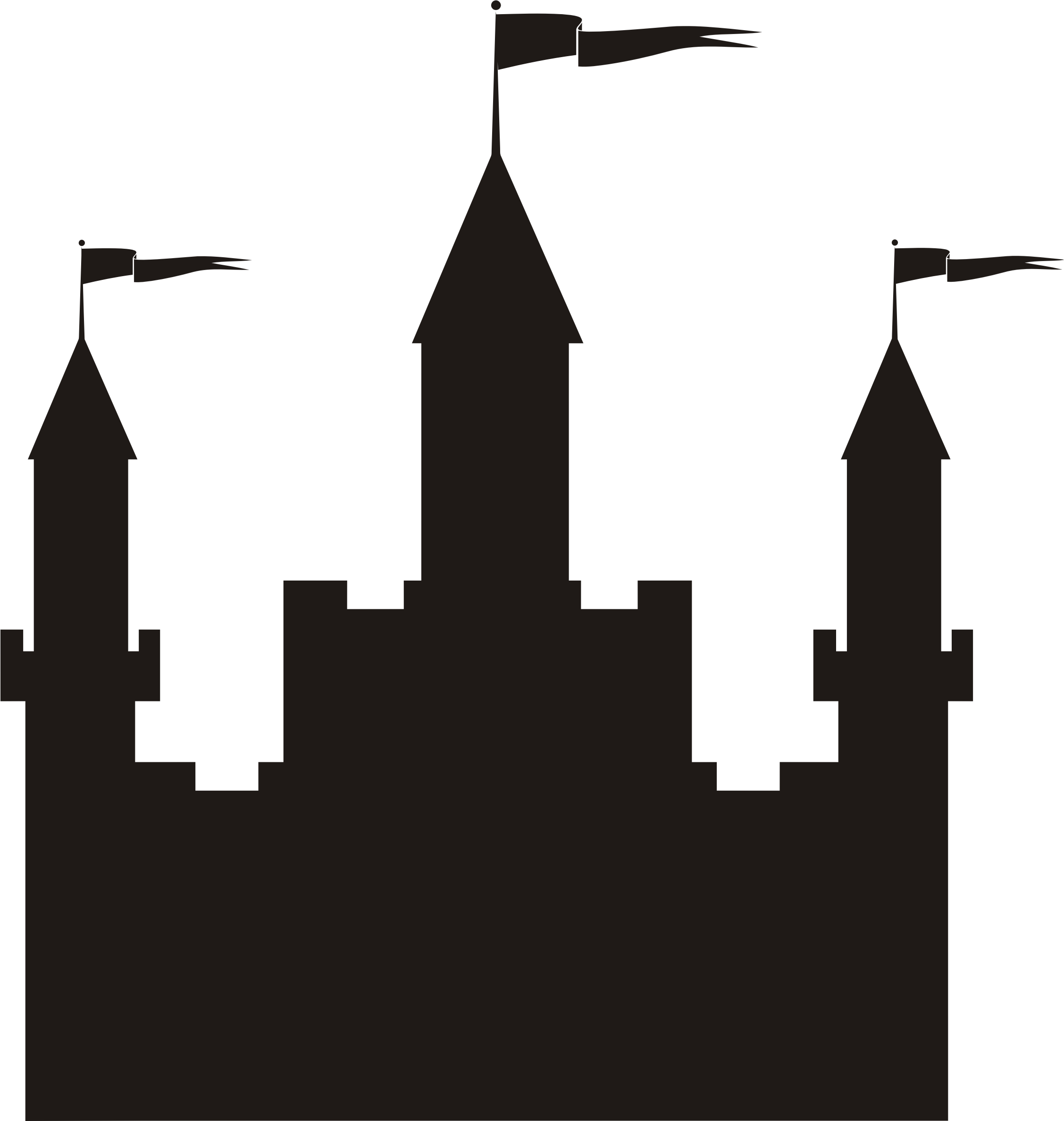 2255x2375 Castle Silhouette Icons Png