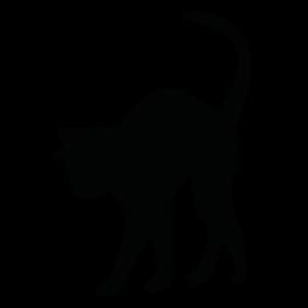 283x283 Cat Silhouette Silhouette Of Cat