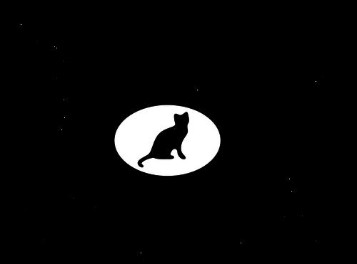 500x371 21470 Black Cat Silhouette Clip Art Free Public Domain Vectors