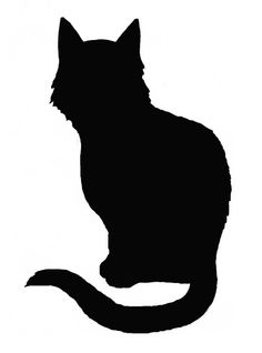 236x318 Silhouettes Of Cat Graphics