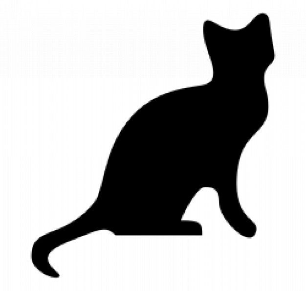 626x595 Free Clipart Cat Outline White Clip Art At Clker Com Vector Online