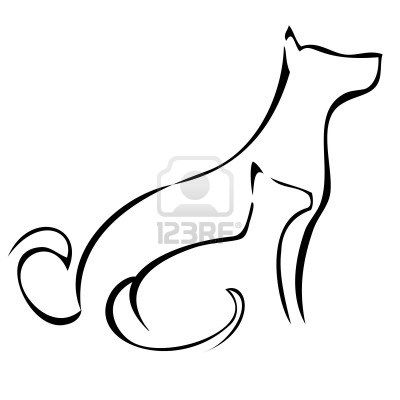 400x400 Dog Sitting Silhouette Without The Cat For A Tattoo Tattoos