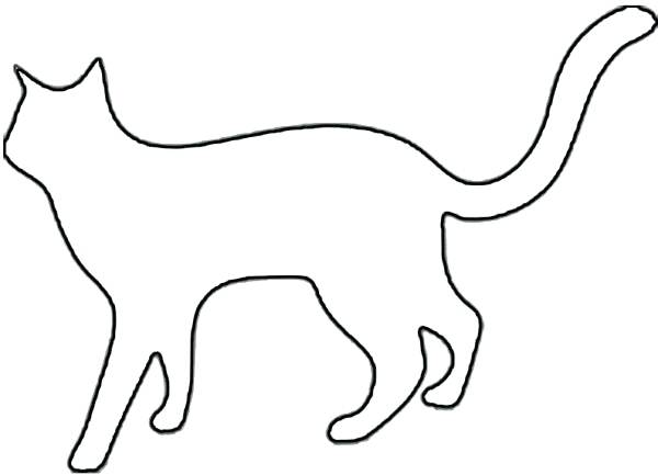 600x433 Black Cats Outlines Tattoos Sitting Cat Outline Black Silhouette