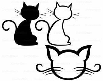 340x270 Cats Love, Svg, Dxf, Png, Cricut, Silhouette, Cat Shirt, Cats