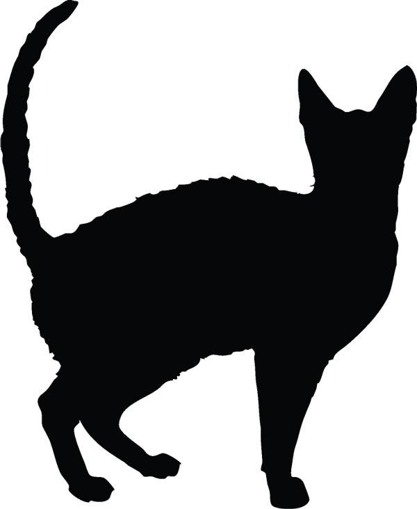 600x732 Cats Silhouette Shapes Cats Silhouette, Cat