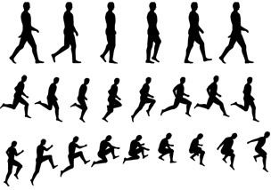 304x214 Character Movement Silhouette Vector Free Vector In Encapsulated