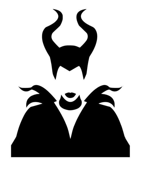 495x640 Maleficent Silhouette Wall Decals Movie Character Home Decor Art