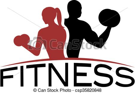 450x310 Man And Woman Of Fitness Silhouette Character Vector Design Eps