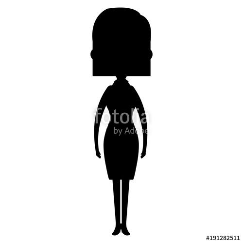 500x500 Cute Mother Silhouette Avatar Character Vector Illustration Design