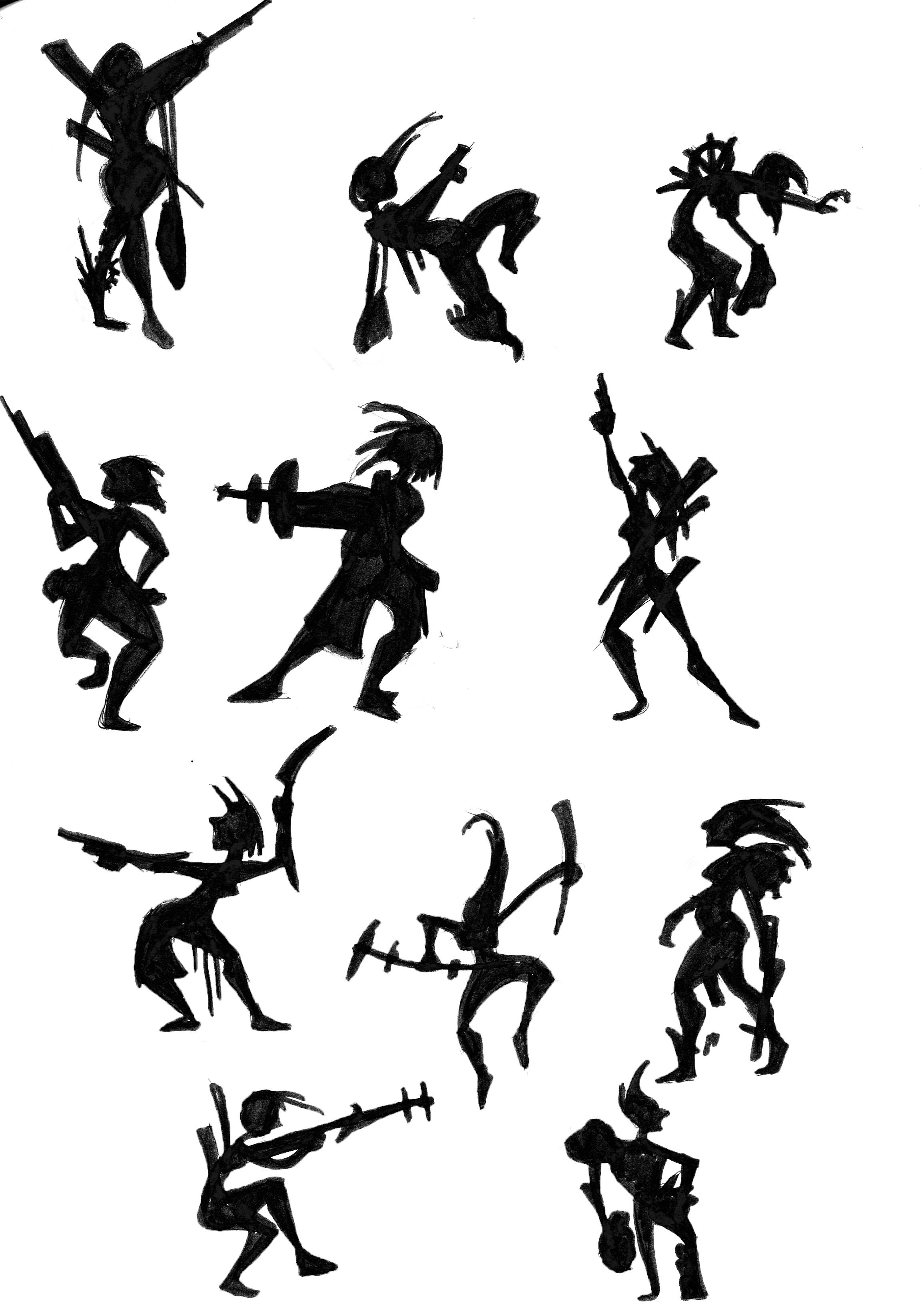 2311x3264 Character Silhouette Experimentation The Art And Animation Blog