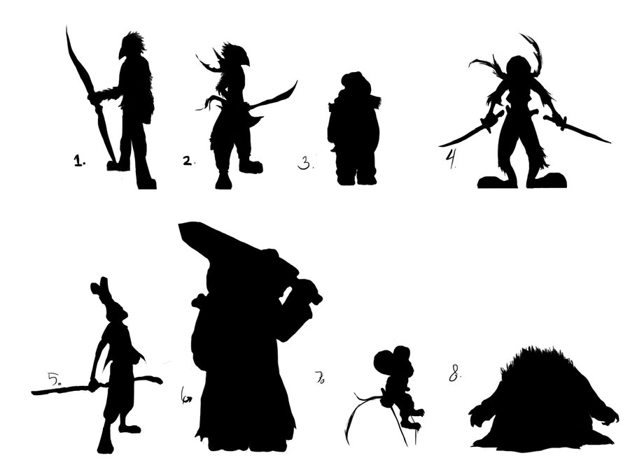 900x675 Character Silhouette Concepts By Arckason