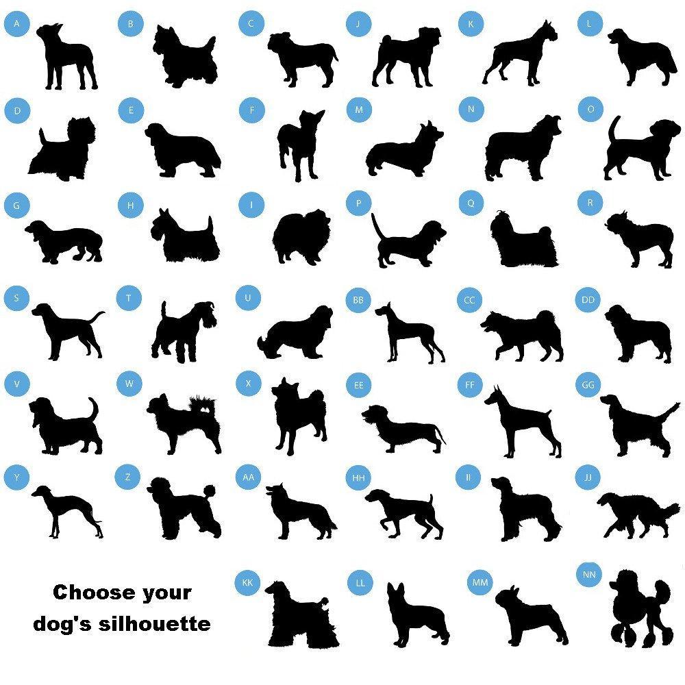 1000x1000 Man's Best Friend Silhouette Small Dog Bowl Absoluteawesomestuff