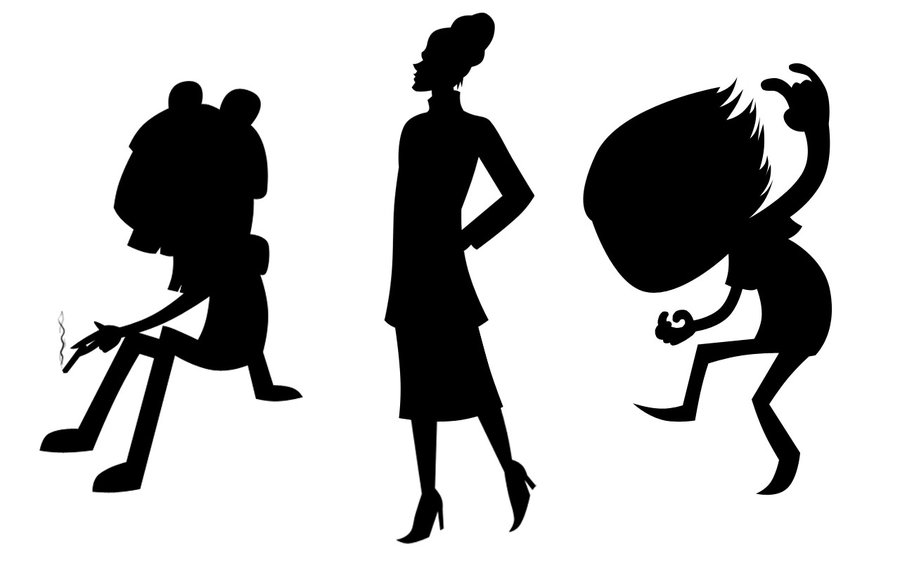 900x563 Silhouette Characters 2 By Skybluespirit