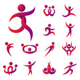 160x160 Abstract People Teams Group Body Silhouette Shapes Icons Logo