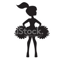 199x200 Cheerleader Silhouette Vector Illustration Stock Vectors