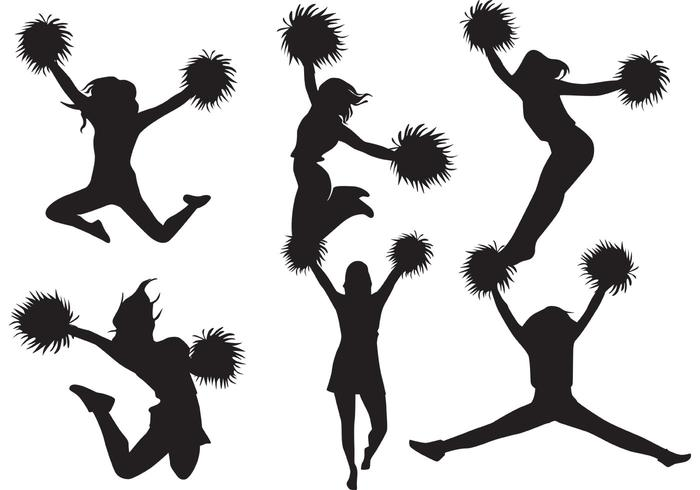 700x490 Cheerleader Silhouette Vector Pack