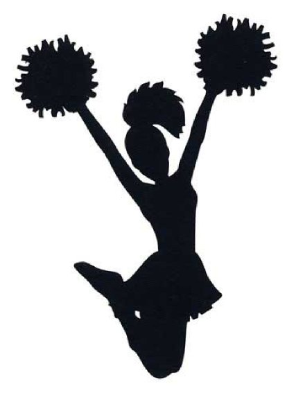 414x593 Free Cheer Sillohette Clip Art Black And White Cheerleader Clip