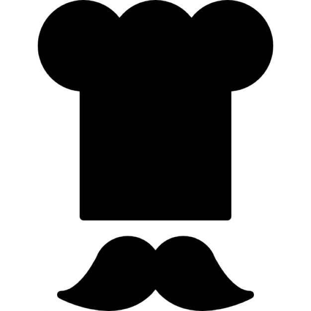 626x626 Chef Toque And Mustache Icons Free Download
