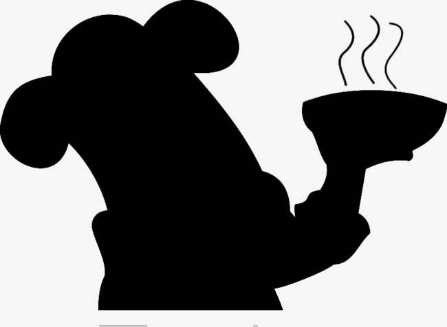 650x476 End Noodles Cook Black Silhouette, Chef, Black, Sketch Png Image