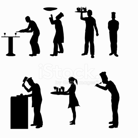 440x440 Food Service Silhouette Collection Vector jpg Stock Vector