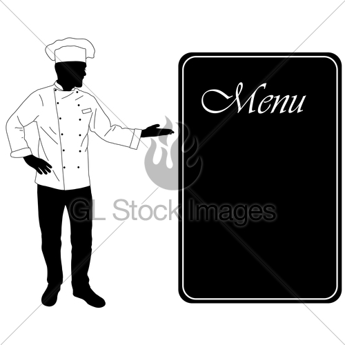 500x500 Kitchen Chef Offers Dinning Menu Silhouette Gl Stock Images