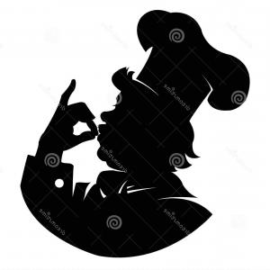 300x300 Stock Illustration Silhouette Chef Illustration Happy Profile