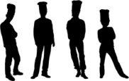 182x115 Chef Illustration Silhouette Stock Vectors