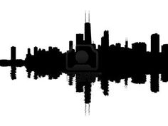 236x177 Chicago City Skyline Silhouette Background. Vector Illustration