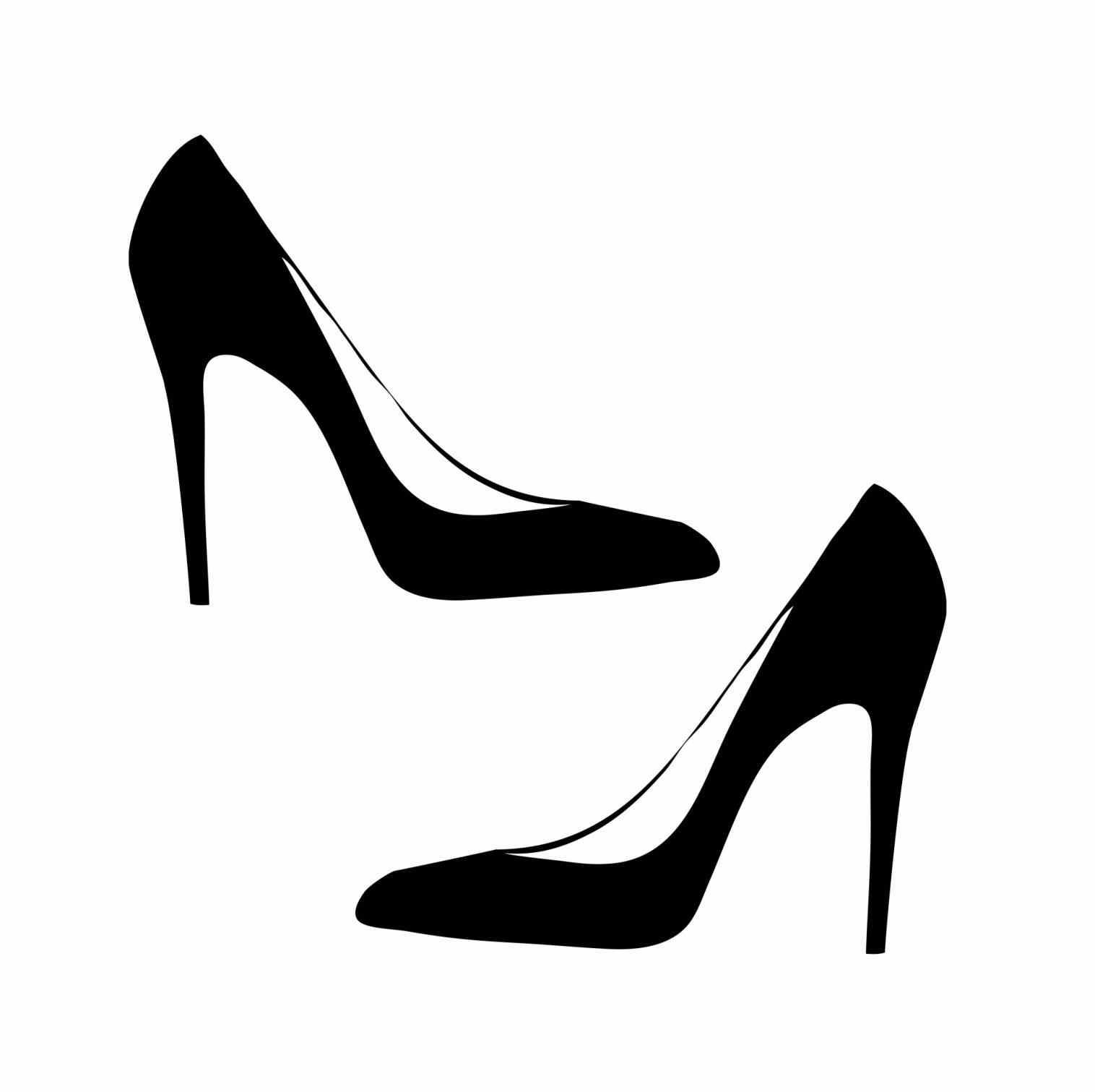 1516x1511 High Heel Silhouette Png