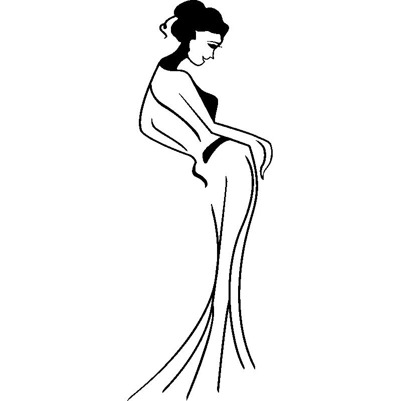 800x800 Sticker Silhouette Belle Femme