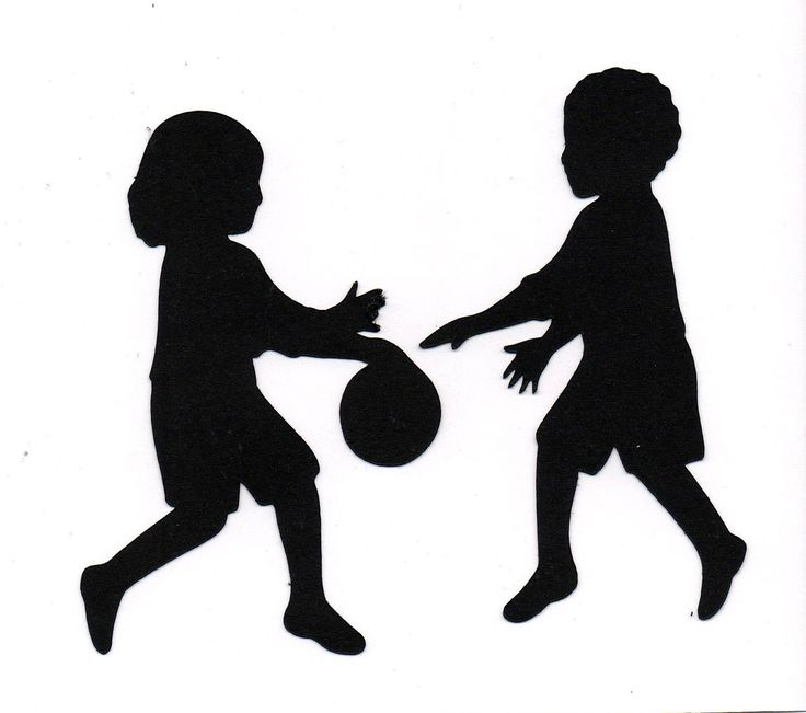 736x651 Children Playing Silhouette Clip Art 101 Clip Art