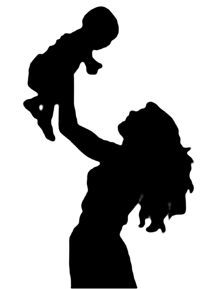 432x583 Mother And Baby Silhouette Clip Art