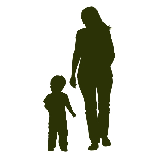 512x512 Mother With Child Silhouette