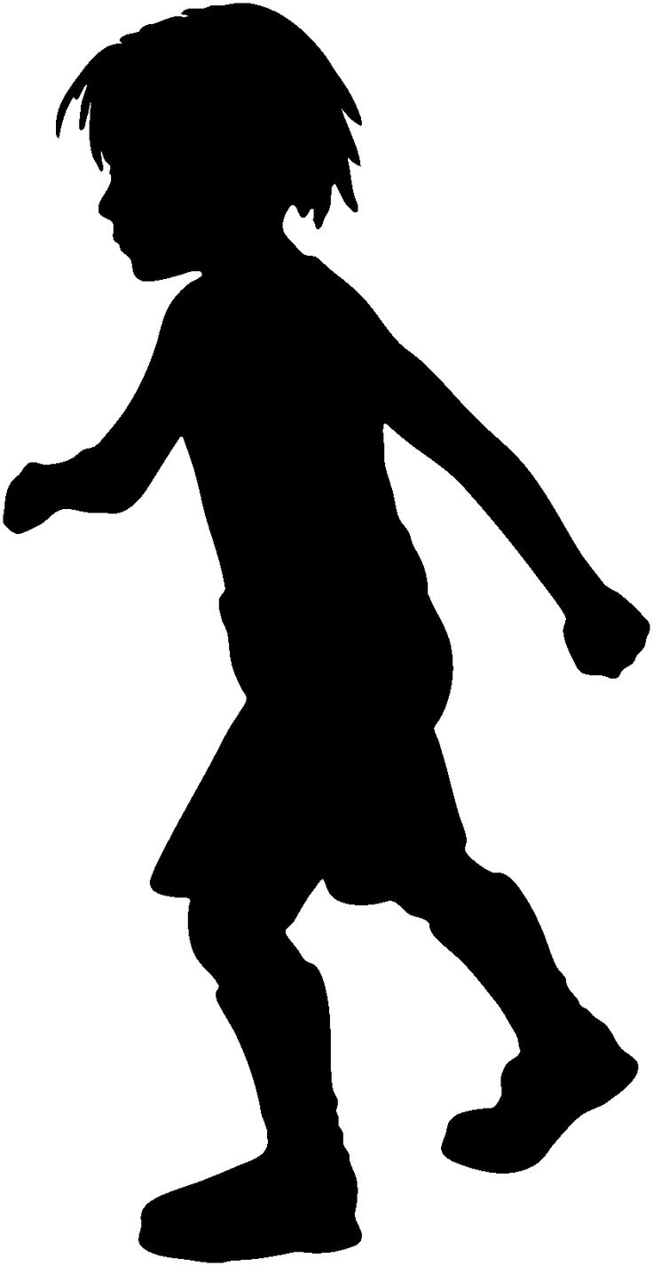 736x1425 Shadow Clipart Excited Kid
