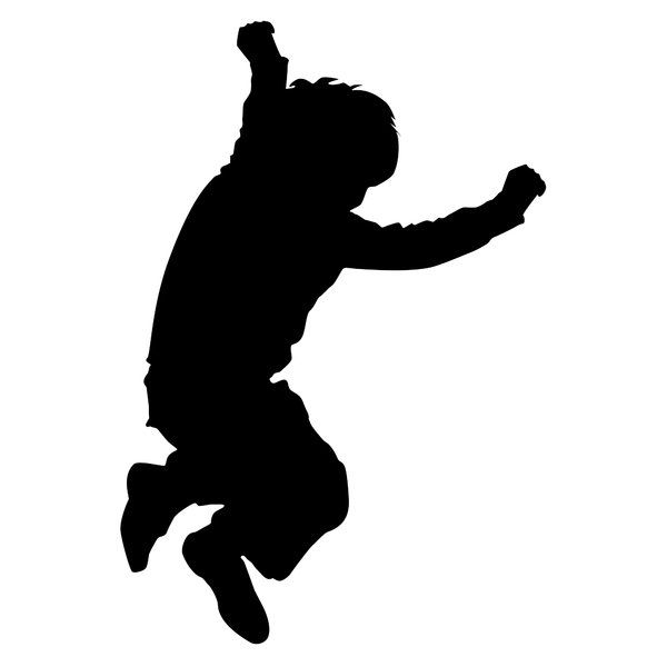 600x600 Child Jumping Silhouette Home Crafts Silhouette