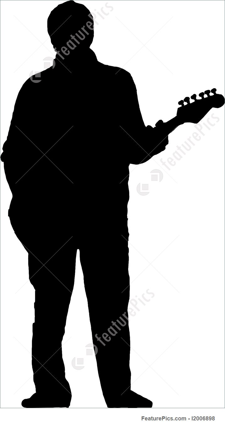 717x1360 Silhouette Of Guitarist Picture