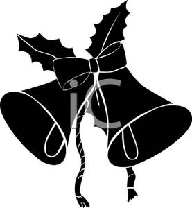 277x300 Silhouette Christmas Bells With Ivy, And A Bow