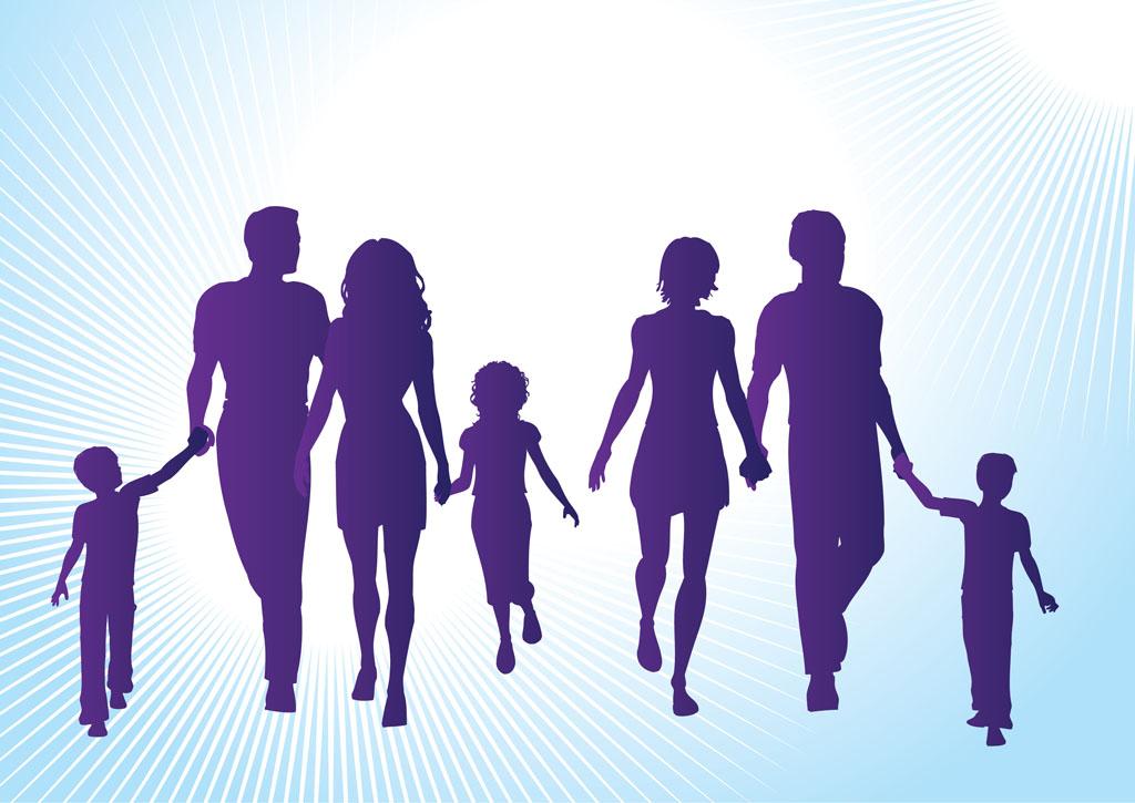 1024x725 Family Silhouettes