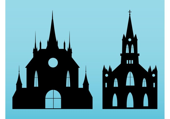 700x490 Silhouette Church Building Free Vectors Ui Download