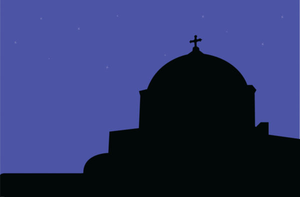 600x394 Silhouette Of Church Building.