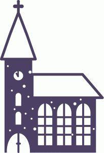 205x300 Snowy Church Silhouette Design, Silhouette And Churches