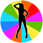 150x150 Pop Art Background With Girl Silhouette And Colorful Circle Vector